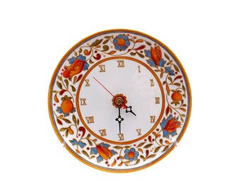 fresh idea whimsical clocks. Kitchen decorative clock Ceramic wall Hand painted orange Majolica  Design clocks Mother s day gift Clocks Etsy AU