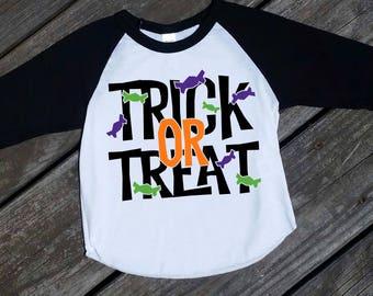 Trick or Treat Boy/Girl Halloween Raglan