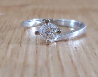 18K Gold, Diamond Solitaire Ring, Diamond Ring, Gold Diamond Ring, Engagement Ring, Diamond Engagement, Natural Diamond, Round Diamond Ring