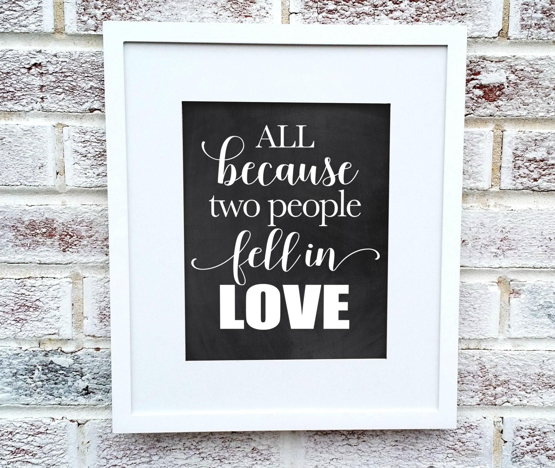 Instant Download Printable Chalkboard Romantic Wedding Sign Digital ...