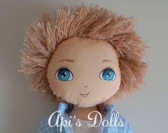 SALE Api's Dolls, OOAK doll, Boy Doll, Doll for boys, Handmade doll, Cloth doll, Art doll, Baby doll, First Doll, Classic doll