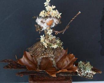 Wild Ozark Acorn Folk - Sorceress OOAK