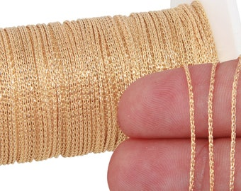 1 FT 0.9 mm 14K Gold Filled Wheat Chain (GF914)