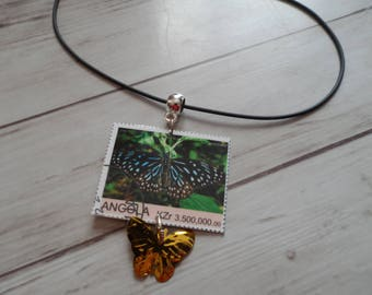 Stamp Butterfly Necklace