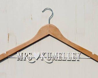 Wedding Hanger, Personalized Wedding hanger, Bridal Hanger, White Coat Ceremony, Dr. Graduation, College Graduation, Wedding gift vet0003