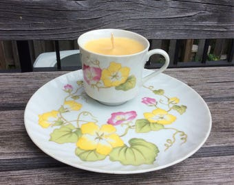 Ginger Lemon Zest Tea Cup Candle: Different Styles