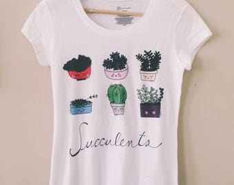 Succulents tshirt