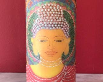 Decorated Candle, Buddha Statue Scented Pillar Candle,
