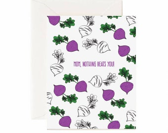 "Beats ""Mom, Nothing Beats You"" Mother's Day Greeting Card"