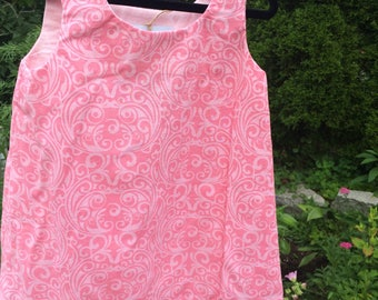 Pink print cotton sundress
