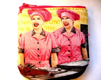 New!  pouch with tv characters made from tv fabric