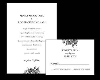 Custom Wedding Invitation Suite, Printable Wedding Invitation, Custom Invitation Suite, Custom Wedding Suite, Printable Invitation Suite