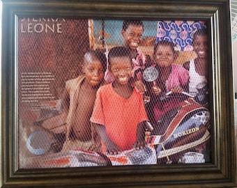 Picture Frame Earring Holder, Sierra Leone Background