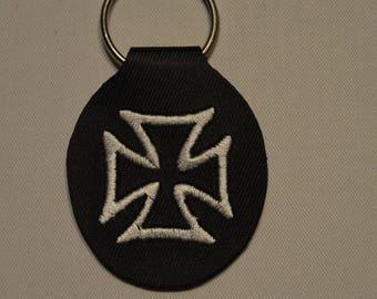 escutcheon key leatherette cross of Malta