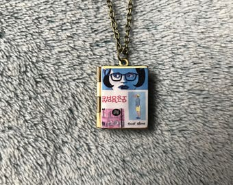 Ghost World Book Cover Locket Necklace
