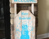 Welcome Snowman Sled...