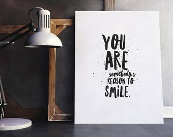 Smile Quote | Inspiring Quote, Inspiring Wall Quote, Inspiring Sayings, Better Life Quotes, Quotes About Life, Smile More, Reason to Smile