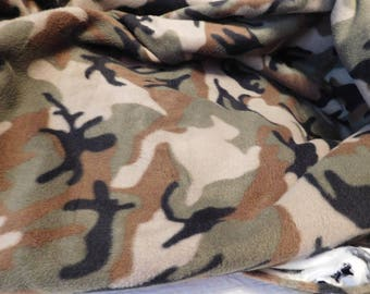 2 NEW FLEECE SLEEP Sack fabrics - Camouflage and Plaid fabric--- available in S,M,L or X-Large-- with or without mittens