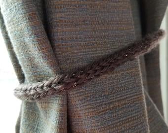 Curtain tie backs, curtain holders, brown curtain tibacks