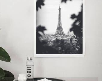 Paris Canvas Or Print, Paris photography, Paris Eiffel Tower decor, Eiffel Tower photo, Eiffel Tower decor, Paris decor, Black and White Art