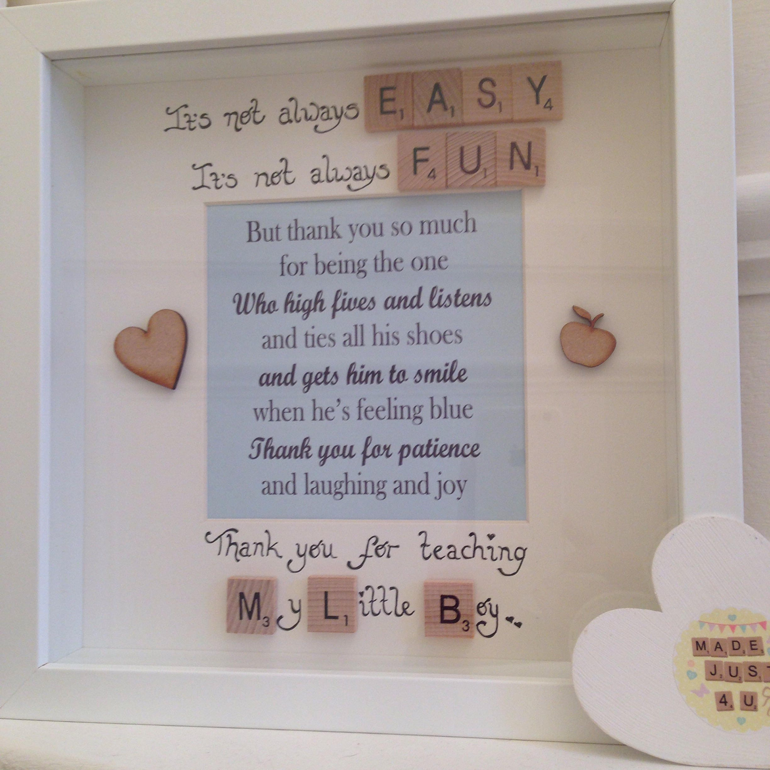 Thank you for teaching my little boy teacher gift personalised 2881 jeuxipadfo Choice Image