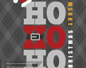 HoHoHo Merry Christmas - SVG, PNG, DXF cut file