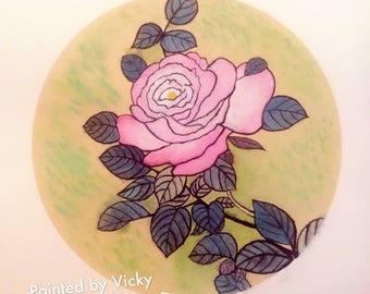 Elegant & Beautiful traditional painting with watercolor - Flower