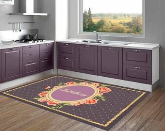linoleum teppich etsy. Black Bedroom Furniture Sets. Home Design Ideas
