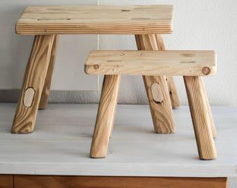 handmade wooden stoolmilkingspruce barn woodbathroom furnituredecorold & Modern wood stool | Etsy islam-shia.org
