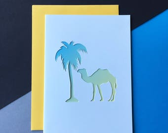 Camel Papercut Card