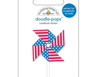 Doodlebug | Yankee Doodle Collection | Doodle-Pops 3D Stickers | Pinwheel