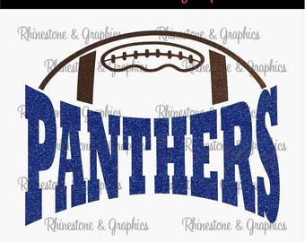 Panthers Football Design Pattern Graphic Design Instant Download EPS SVG DXF  Cutting Files Cameo