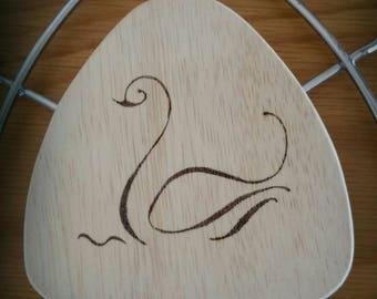Dessous de plat en bois pyrogravé fait main