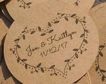 25 custom tags ~ spread the love jar topper tags ~ wedding tags ~ rustic wedding favor tag ~ custom wedding labels ~ jar labels ~ labels