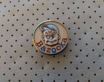 Bazooka JOE  Chewing Bubble Gum Vintage Rare Pin Badge Bertoni Milano