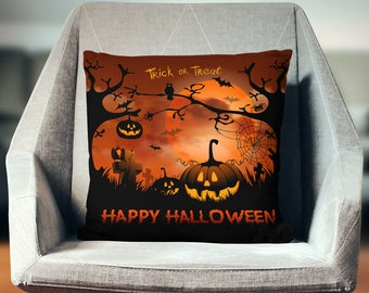 Halloween Pillow | Halloween Throw Pillow | Halloween Decor | Halloween Pillow Case | Halloween Pillow Cover | Halloween Cushion |
