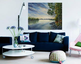 Contemporary art giclee print for bedroom wall decor canvas print painting landscape oil painting Giclee canvas Impressionist art landscape