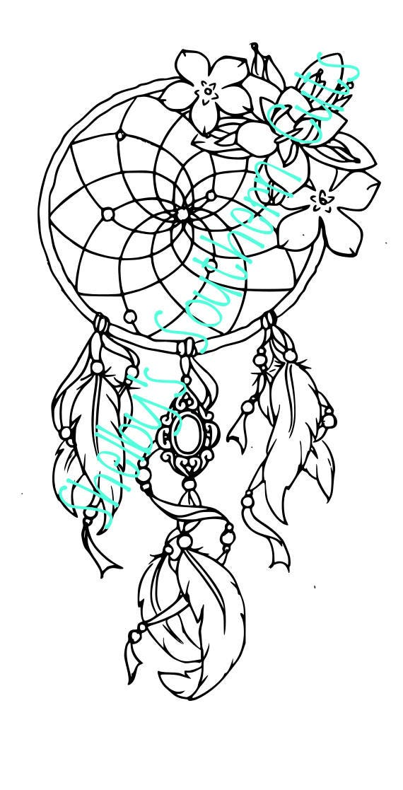 Floral Dream Catcher SVG