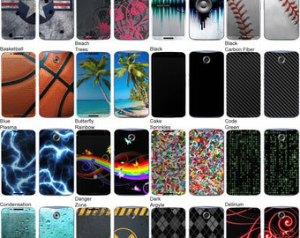 Choose Any 2 Designs - Vinyl Skins / Decals / Stickers for Google Nexus 6 Android Smartphone