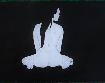 "drawing of nude female erotic ""Nebula"""