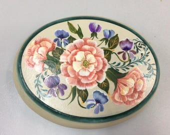 Oval Box with Beautiful Floral Design