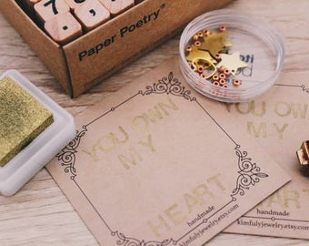 Handstamped Jewelry Cards