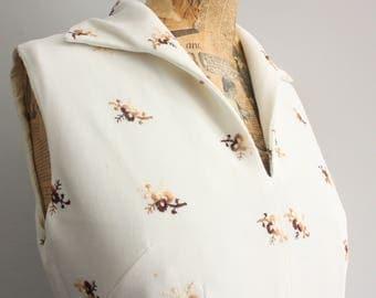 Vtg 60's White Embroidered Maxi Dress