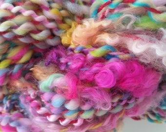 USA skein of yarn spun to spinning wheel.