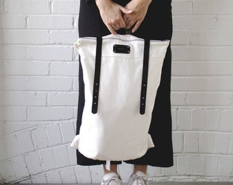 Backpack ADAMS - ivory and black