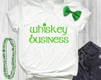 Women's St. Patrick's Day Shirt - Whiskey Business - Irish T-Shirt