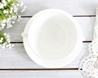 Vintage Wedgwood White Bouillon Cup | White Soup Cup, White Wedgwood Bouillon Cup, Vintage Soup Cup, White Soup Bowl