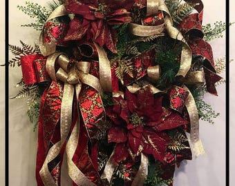 Elegant Christmas Wreath Front Door, Christmas Wreaths For Front Door Wreath, Christmas Door Wreath, Holiday Wreath, Holiday Door Decor