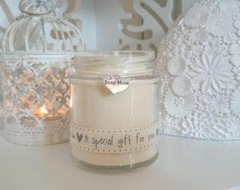 Step Mum (a specail gift for you) Scented Soy Candle Gift