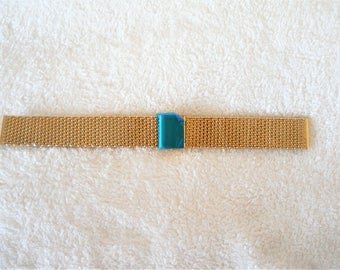 18mm gold plated stainless steel Shark Mesh watch strap (unused)